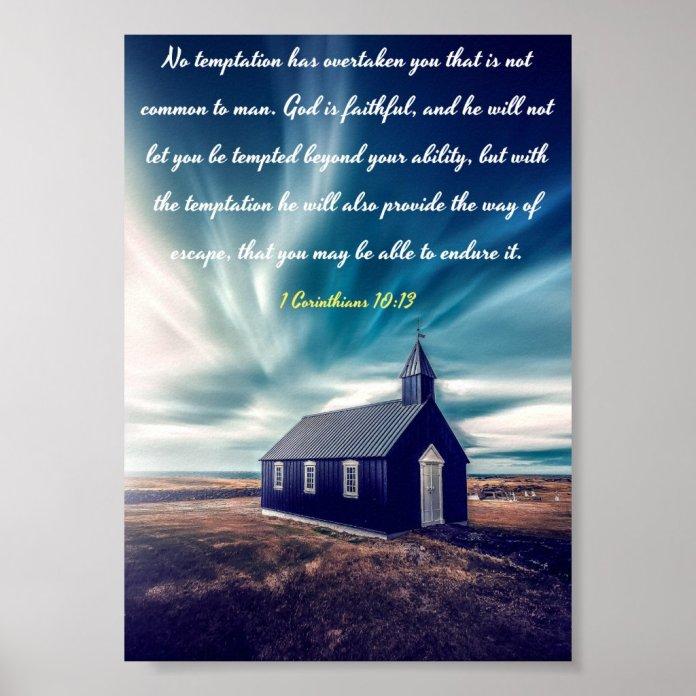 God is faithful - Bible Poster