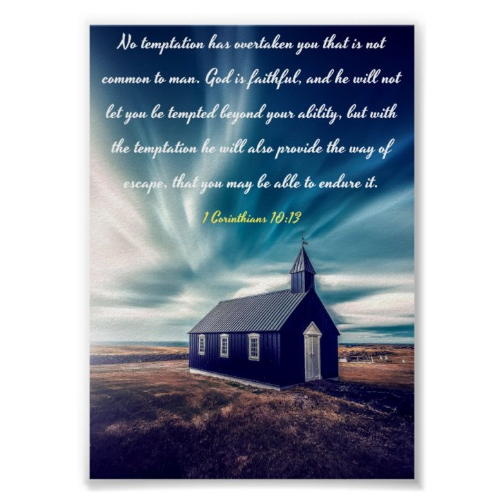 God is faithful - Bible Poster