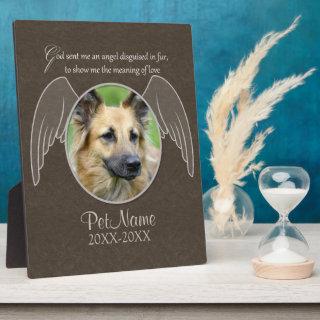 God Sent an Angel Pet Sympathy Custom Plaque