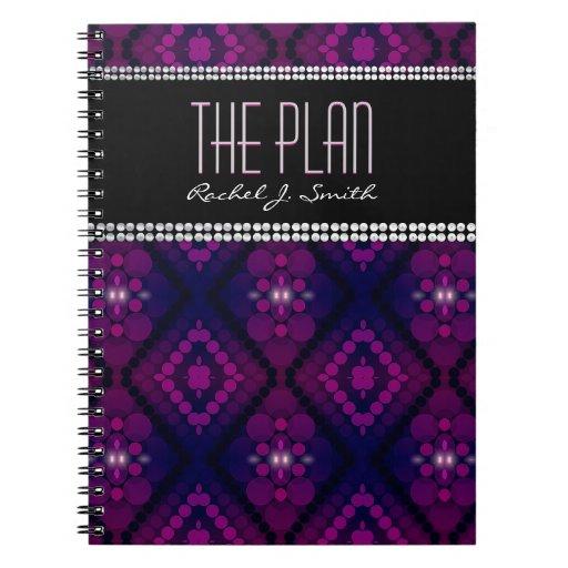 Goddess Lights Purple Pattern Custom Notebook