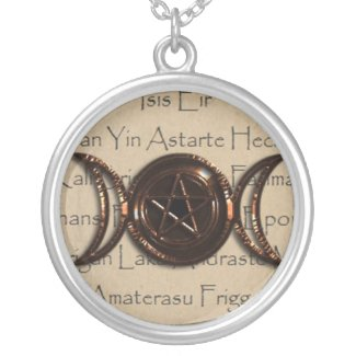 Goddess pentacle necklace