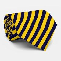 Gold and Blue striped tie | Zazzle