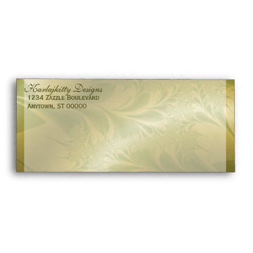 Gold and Green Paisley Envelope