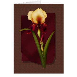 Gold and Rust Iris card