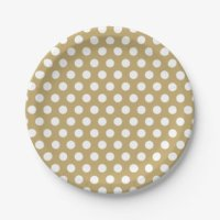 Gold Polka Dots Plates & Gold Polka Dots Plate Designs ...