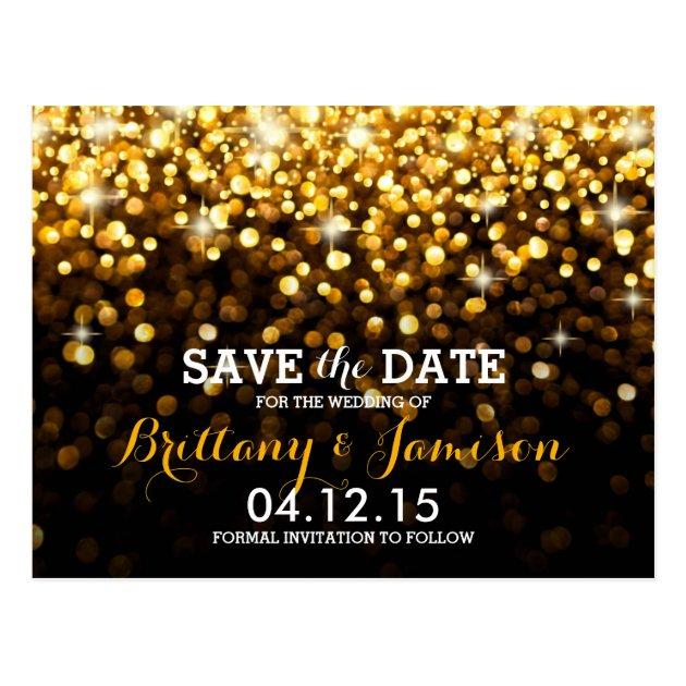 And Invitations Birthday Black Gold