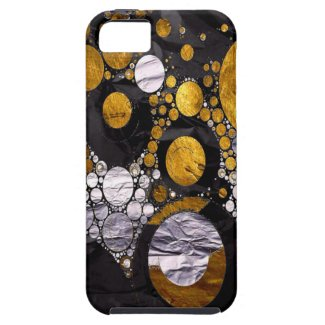 Gold/Black Metal Textured Abstract iPhone 5/5S Cover