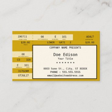 gold concert ticket