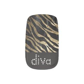Gold Diva metal texture Minx Nail Wraps