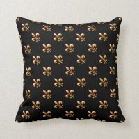 Gold Fleur de Lis- New Orleans Throw Pillow | Zazzle