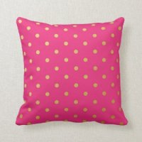 Pink Polka Dot Pillows   Pretty Throw Pillows