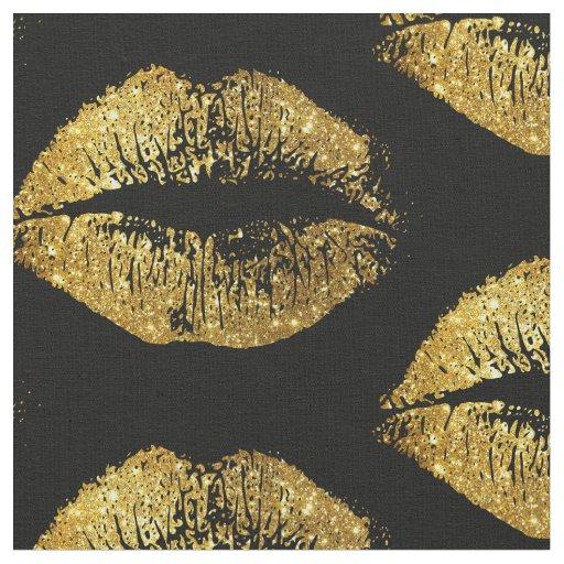 Custom Monogram Wallpaper For Iphone Gold Glitter Lips Fabric Zazzle