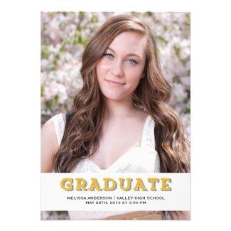 Gold Graduate Senior Portrait