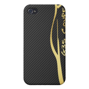 Gold Infiniti G35 Logo with Faux Carbon Fiber iPhone 4/4S Cover