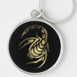 Gold Scorpio Scorpion Keychain