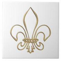 Fleur De Lis Ceramic Tiles | Zazzle