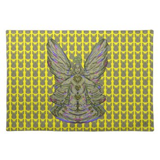 Golden Angel Seating Placemat Cloth Place Mat