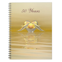 Golden Anniversary Hearts Notebook
