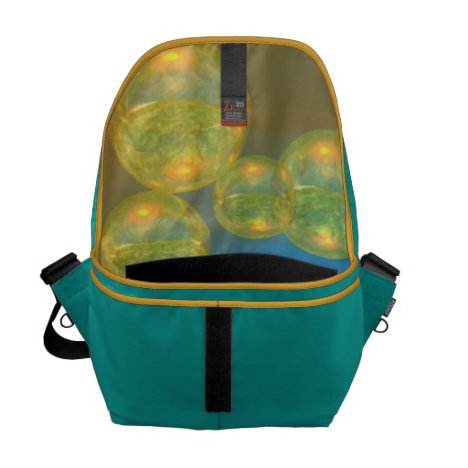 Golden Days - Yellow & Azure Tranquility Courier Bag