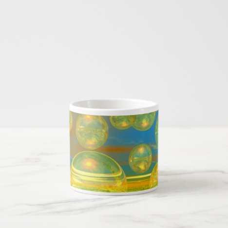 Golden Days - Yellow & Azure Tranquility Espresso Cup