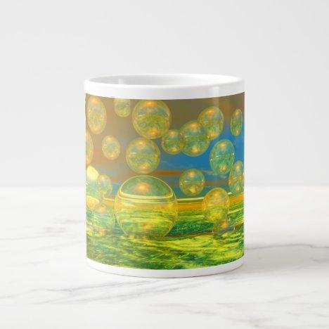 Golden Days - Yellow & Azure Tranquility Large Coffee Mug