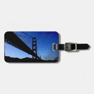 Golden Gate Bridge Photo Edit - Rainy Night Tag For Luggage