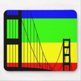 Golden Gay Bridge Mousepad