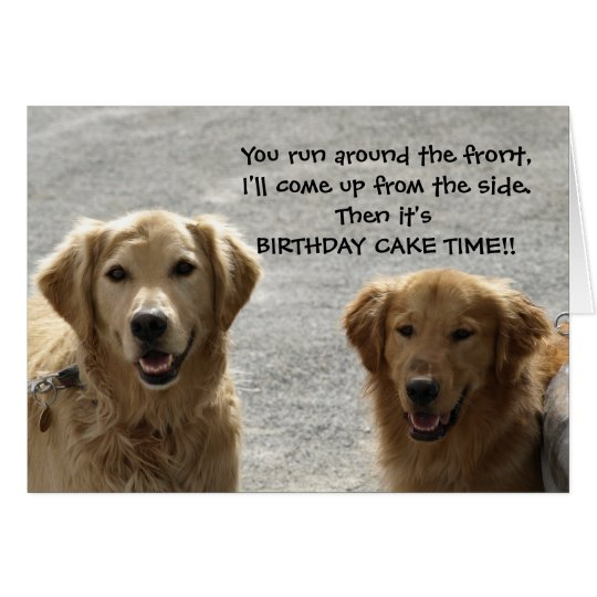 Golden Lab Friends Birthday Card Zazzle Com