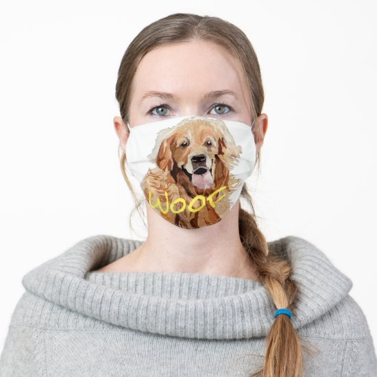 Golden Retriever and Personalized Meme Cloth Face Mask