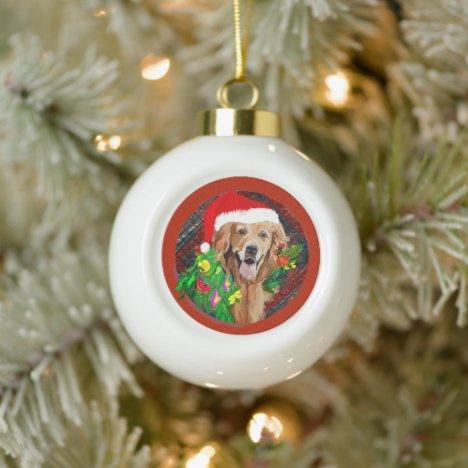 Ceramic Ball Christmas Ornament