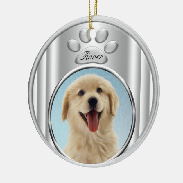 Golden Retriever Christmas Tree Ornaments Zazzle