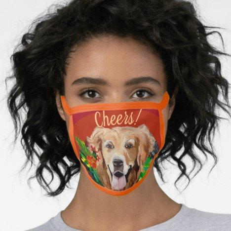 Golden Retriever Cotton & Poly Blend Facemask