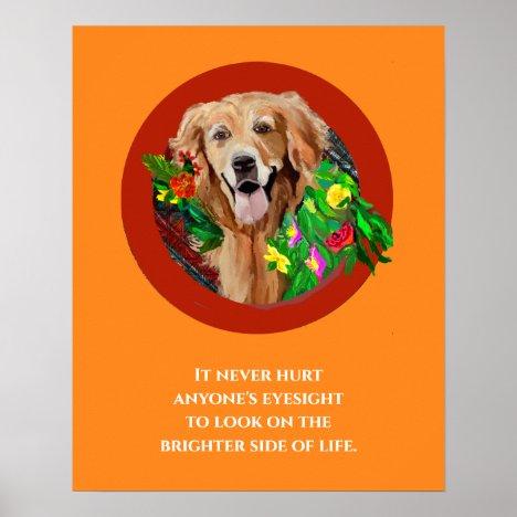Golden Retriever Print, Value Poster Paper (Matte)