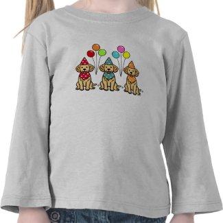Golden Retriever Puppies Birthday Tee Shirt