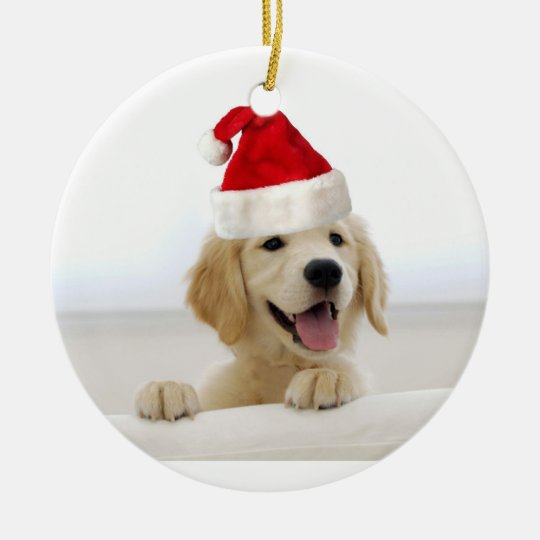 Golden Retriever Puppy Holiday Christmas Ornament Zazzle