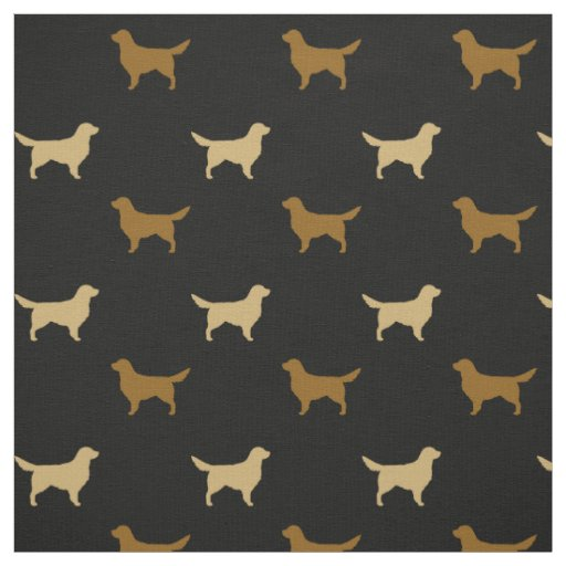 Golden Retriever Silhouettes Fabric Zazzle