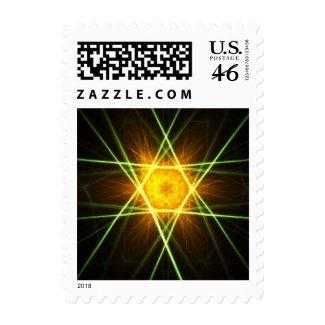 Golden star stamp