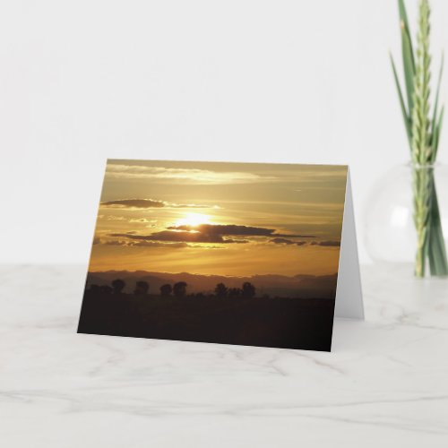 golden sunset card