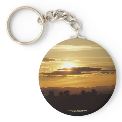 golden sunset keychain