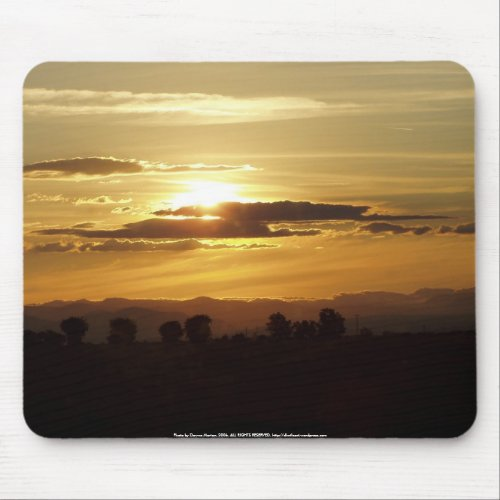 golden sunset mousepad