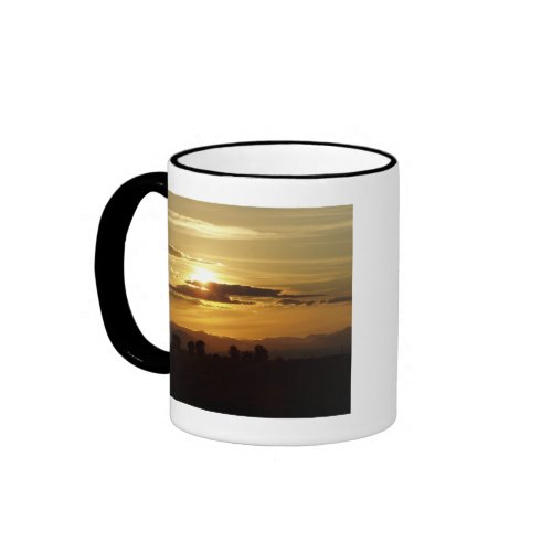 golden sunset mug