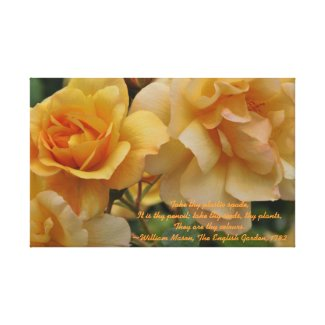 Golden Sunset Roses Wrapped Canvas zazzle_wrappedcanvas
