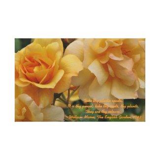 Golden Sunset Roses Wrapped Canvas zazzle_wrappedcanvas