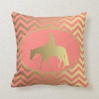 Golden Western Pleasure Horse Pillow | Zazzle