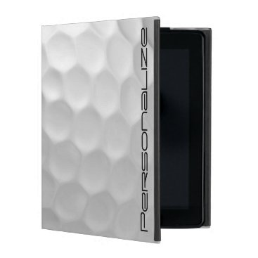 Golf Ball with Personalized Name iPad Case