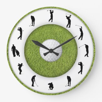 Golf club wall clock