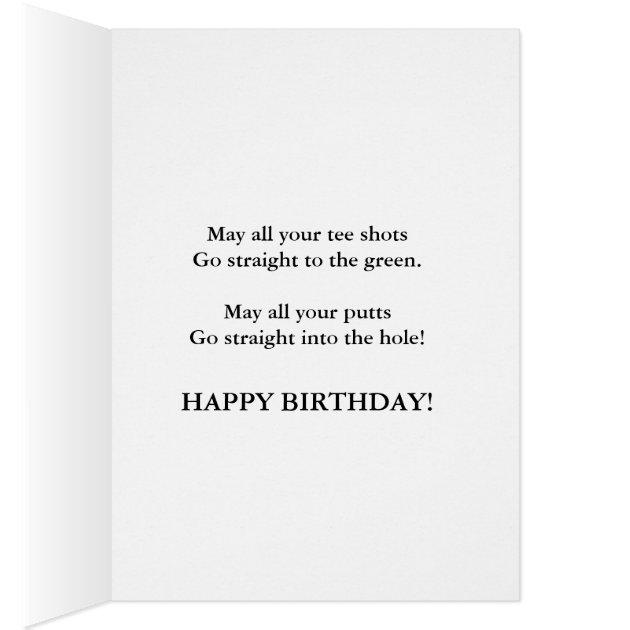 Golf Jokes Birthday Card For 75 Year Old Zazzle