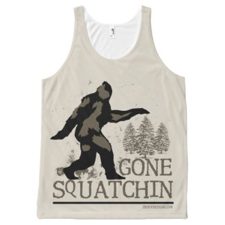 Gone Squatchin All-Over-Print Tank Top