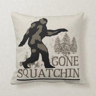 Gone Squatchin Throw Pillow