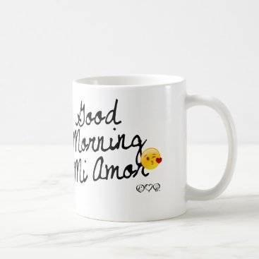 Good Morning Mi Amor! With kissy face Coffee Mug